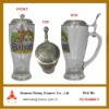 400ml Glass Beer Stein Beer Mug with decals