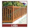 Imitation Wood Fence--Aluminium Palisade Garden Fence