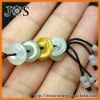 Genuine Three Color Blessing Ring Lucky Jade Cell Phone Strap