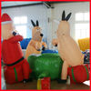 2012 Christmas inflatable santa claus with deer