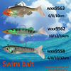 !Hot sale wxx9563 6/8/10/12/14cm swim bait Fishing lures fishing tackle soft baits