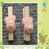 mini cartoon decoration wood clothes peg