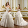 2012 New style ball gown white wedding dresses (BS558)