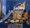 wooden children bed room furniture