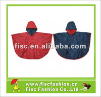 FISC-P1123 Kids Durable Two Sides Wearable Nylon Poncho