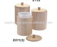 hot-selling bamboo canister with plastic inner bottle