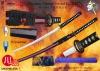 Handmade Cay-tempered Honsanmai Wined-red Saya Sword
