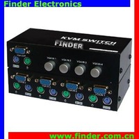4 way USB KVM Manual Switch supporting wide screen