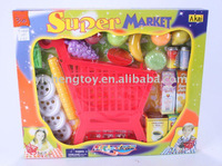 plastic children toys shopping cart