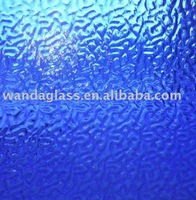stained glass-transparent glass bright blue