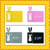 cheap and good quality cartoon lovely rabbit silicone car anti slip mats