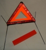 traffic warning triangle with box for car emergency