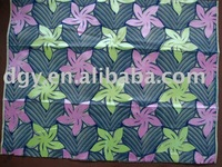 cotton wax printed fabric