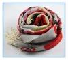 2012 new fashion printing100% wool pashmina scarf