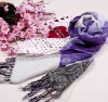 jacquard cotton scarf