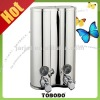 2012 Hottest double soap dispenser V809 made of AISI 304 stainless steel