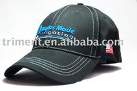 100% cotton brushed twill baseball cap