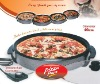 2pcs electric pizza oven w/glass lid