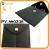travel two pocket black leather jewelry wallet