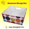 Fabric storage box with 2 handles