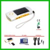 Solar charge flashlight with radio