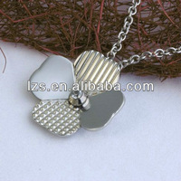 stainless steel lucky clover pendant necklace (LSTP-014)