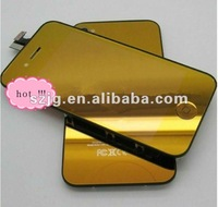 Hotsale! Cellphone conversion kit for iphone 4 digitizer and lcd touch screen gold in high quality