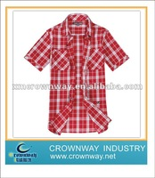 Mens red checked shirts