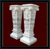 White Marble Square Wedding Decoration Pillar