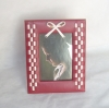 Leather photo frame wood photo frame design