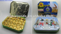 Rectangular chocolate tin box for wedding,tin box with inserts