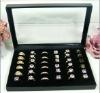 36 Slots Jewelry Rings Velvet Display Holder Organizer Show Case Tray Box Case