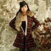 The super high-quality imported big case grain irregular raccoon hair big fur hood womens coat