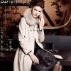Woman High Quality Detachable Fox Fur Collar Wool Coat 02104006