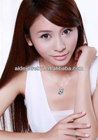Luxury crystal necklace trendy style collor jewellry for girlfriend