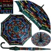 Dubai auto open black straight promotional umbrella