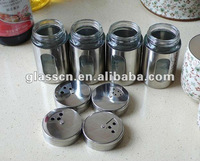 S/S coating Glass storage and spice jar