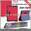 Jeans styles case for ipad mini with pen slot , for ipad mini case