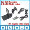 Car DVR Recorder H198 2.5'' TFT LCD screen 6 IR LED Night vision 120 degree wide view angle
