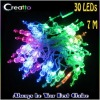 New 7M 30LEDs Violin Shaped Multicolor Changing LED String Christmas Lights