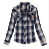 women's plaid new style long sleeves shirt