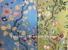 rayon silk blend jacquard floral pattern home upholstery fabrics