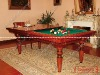 billiard table and dining table