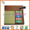 Customized memo pad with wooden pallet