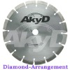 Dry cut diamond blades for cutting granite