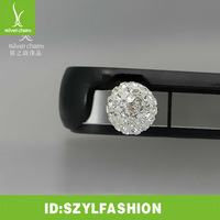 White AAA crystal Dustproof plug for iphone ipad smartphone FC003-5