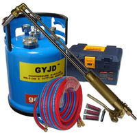 oxy-gasoline cutting torch system (remarkable saving on fuel cost)