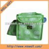 plum flower pattern polyester cooler bag