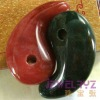 indian agate natural magatama comma beads pendant