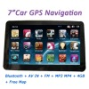 "7"" Mediatek Portable GPS Navigation with FM AV-IN MP3 MP4"